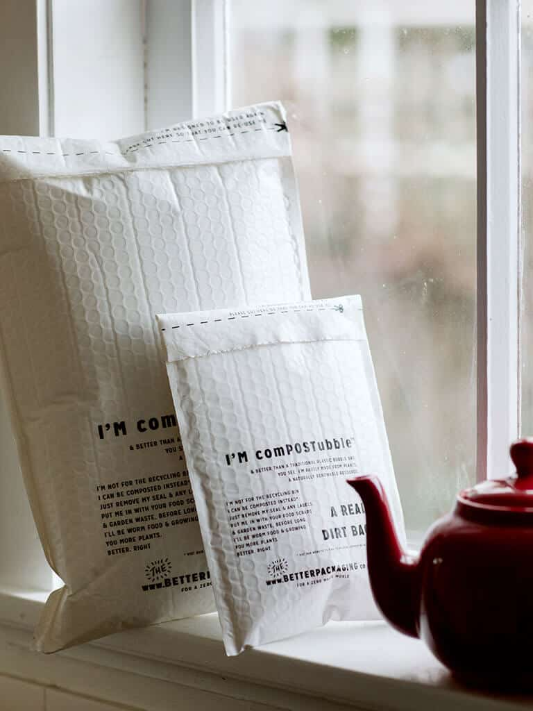 The Better Packaging Co. comPOSTubbles against window