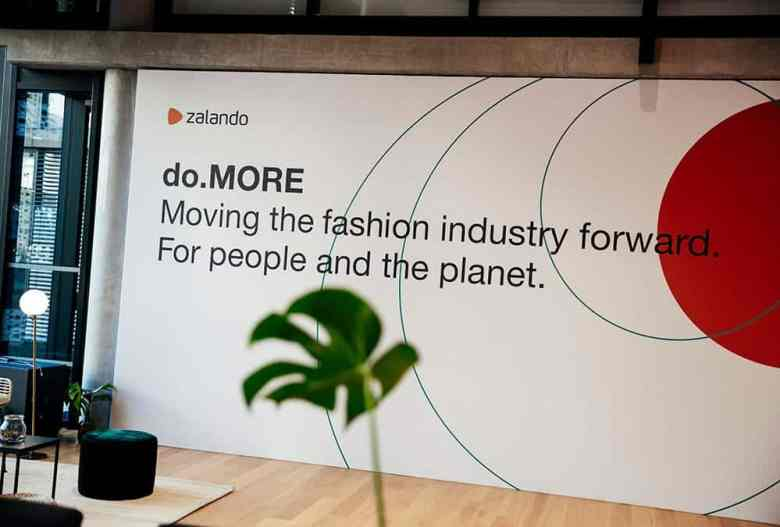 Zalando 'do MORE' Sustainability Mission Statement Sign