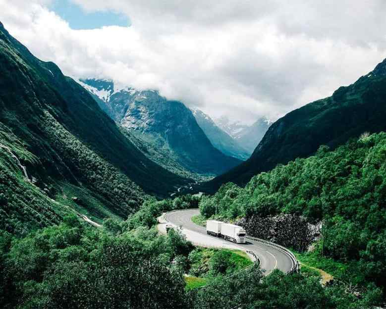 Offset carbon emissions of truck driving through mountains Carbonfund Carbonfree Shipping Program