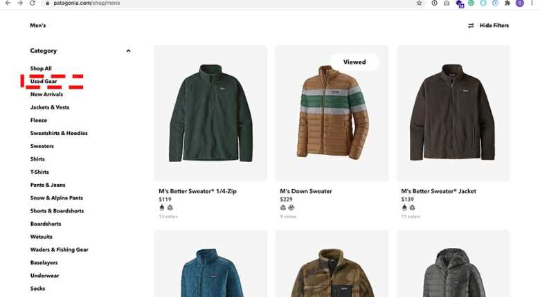 Patagonia Buy Less Demand More- Filters