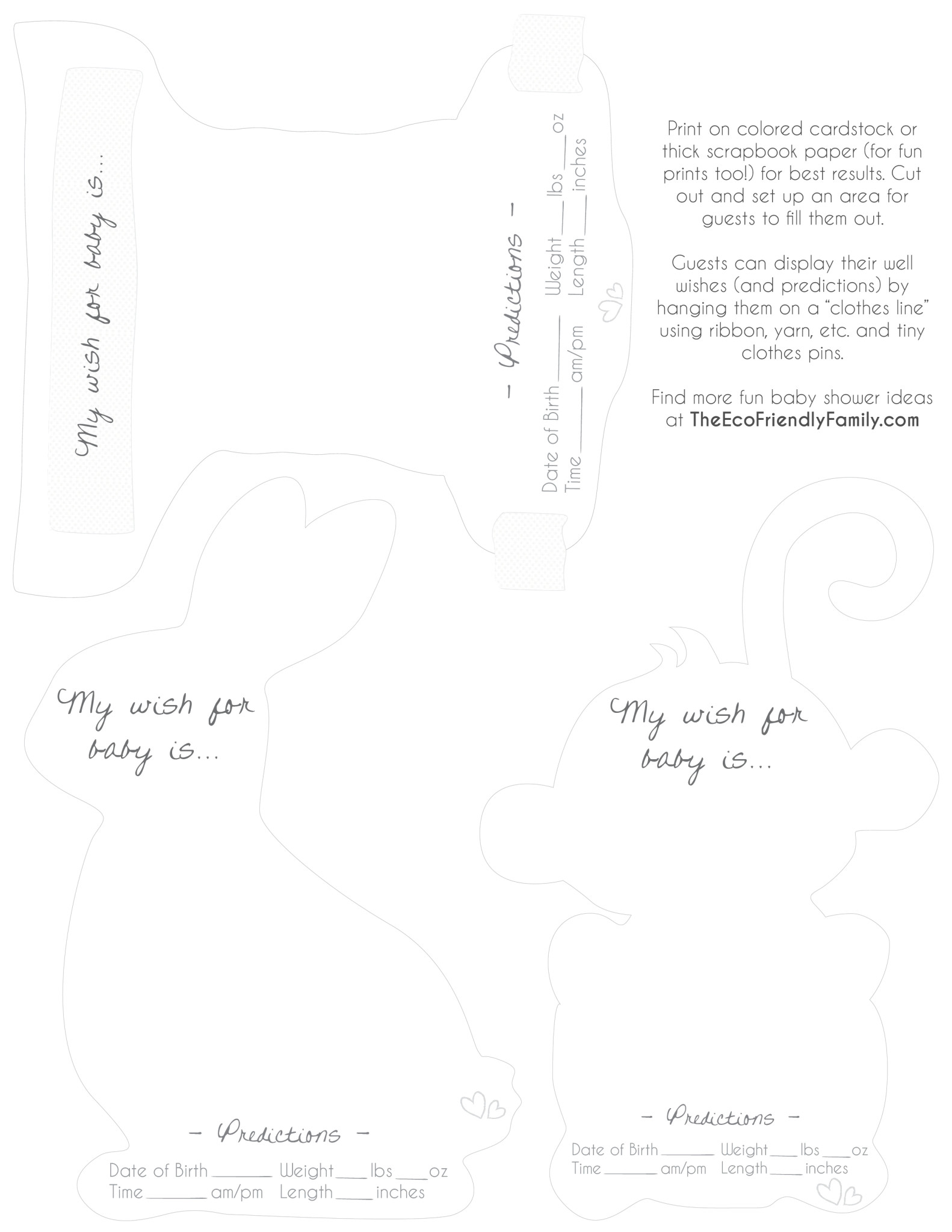 Well Wishes Amp Predictions For Baby Free Printable
