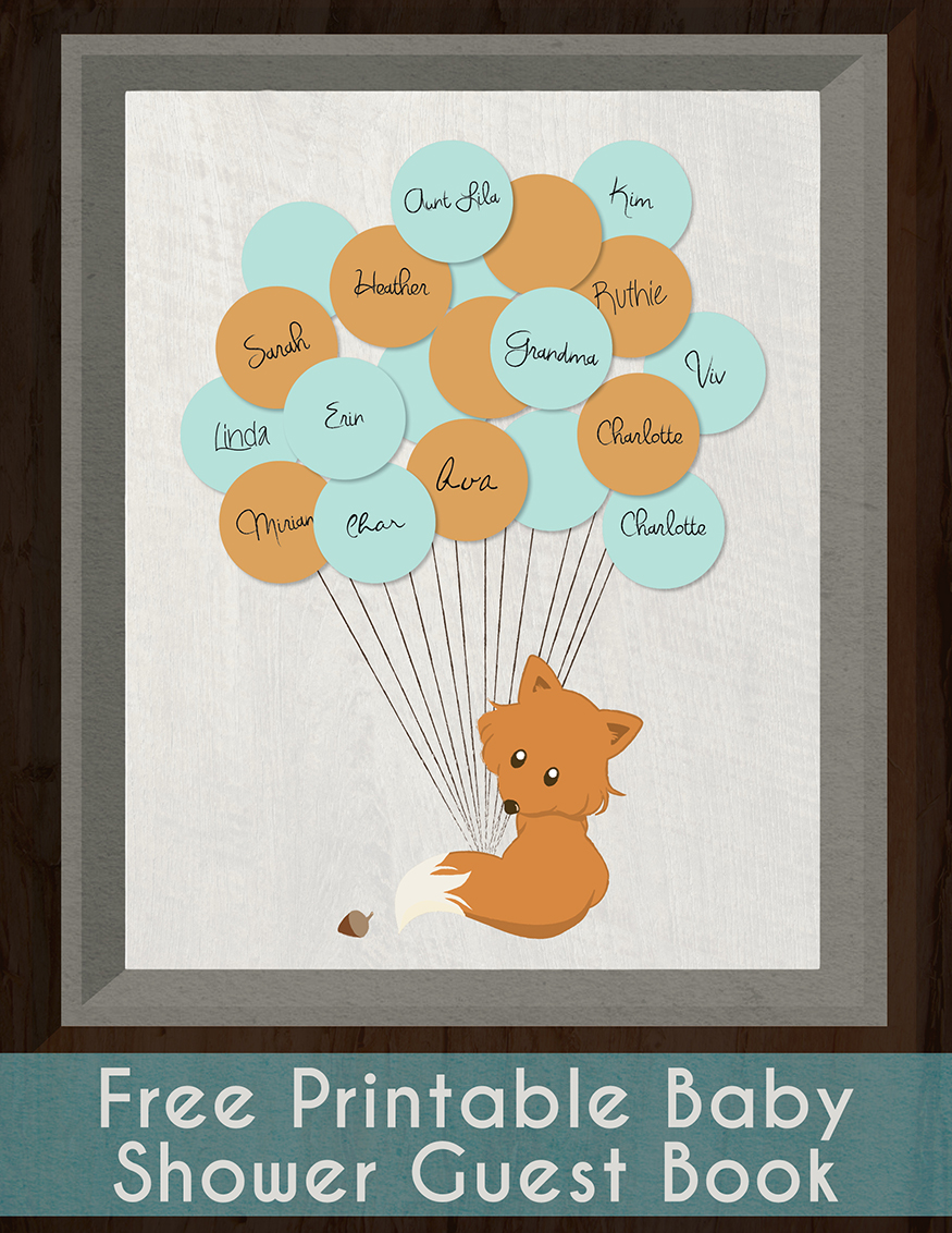 Baby Shower Guest Book Sign Printable : shower, guest, printable, Guestbook, Printable, Eco-Friendly, Family