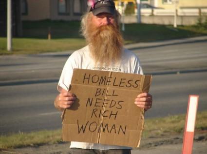 Homeless Bill Needs Rich Woman Photo By Josh Swieringa