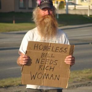 Bill Homeless Woman Needs Rich Foto por Josh Swieringa