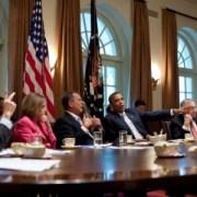 Barack Obama John Boehner Nancy Pelosi Harry Reid Mitch McConnell
