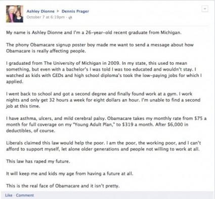 Viral Obamacare Letter