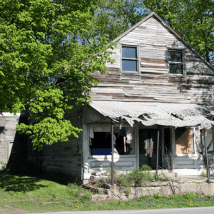 Dilapidated House In Indiana