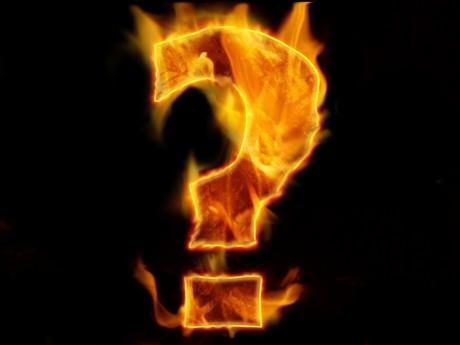 Question Mark ardente - Domaine Public
