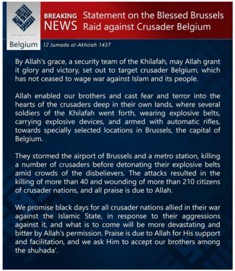 ISIS Statement