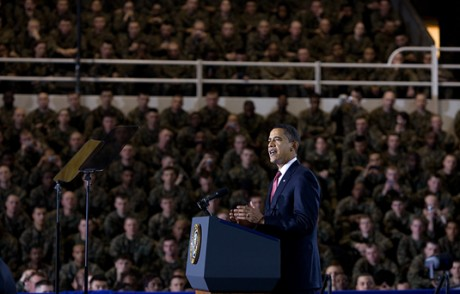 Barack Obama Addresses The Troops - Public Domain