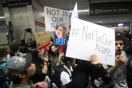 SFO Muslim Ban Protest - Photo by Quinn Norton