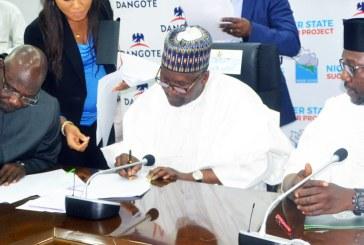 Dangote signs $450million jumbo sugar production Memorandum of Understanding (MoU) with Niger State