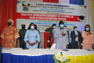 Year 2020 Graduation Ceremony of Students of WAPA 18 Skill Acquisition Centres in Lagos