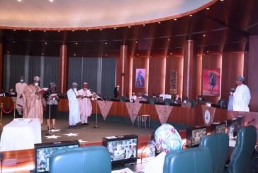 PRESIDENT BUHARI SWEARS IN 4 NEW PERM SEC