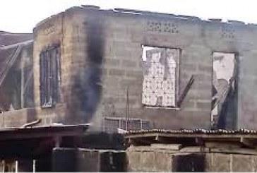 Ebonyi tenants burnt as assailants set building on fire