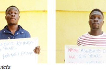 Kwara lecturer, twins jailed for love scam, internet fraud
