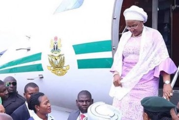 First Lady, Aisha Buhari Returns to Nigeria After Six Months in Dubai