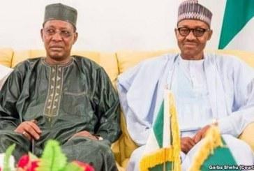 Chadian President Visits Buhari, Behind Closed Doors in Abuja