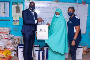 Presentation of Items at the 2021 community outreach initiative by THT