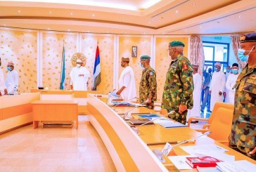 More Talks Less Action: Buhari Holds Yet Another Security Meeting with Service Chiefs