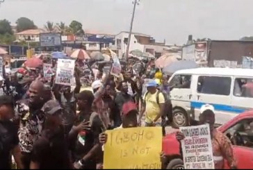 Protest in Ibadan Over Arrest of Sunday Igboho's Aides