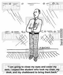 Classroom Student Teacher Cartoon