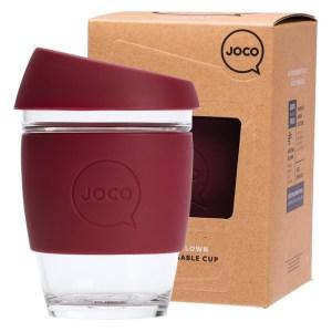 JOCO Reusable Glass Cup Regular 12 oz Ruby Wine - 354ml