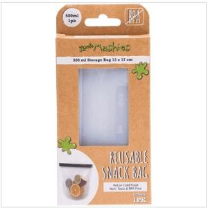 Little Mashies Reusable Food Silicone Snack Bag (Small 500ml)