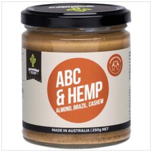 GROUNDED Natural Nut Butter Almond Brazil Cashew & Hemp 250g