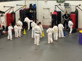 Kids class working some striking