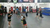 Warm ups, open mat training, and some junior intro lessons