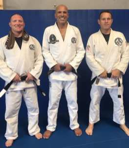 Troy and Wil after their black belt promotions