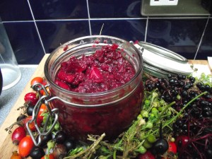 Blackberry chutney