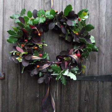 Smoke tree wreath