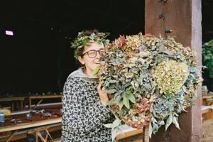 DIY hydrangea topiary balls
