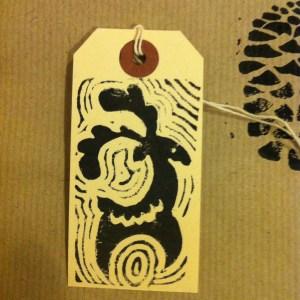 print projects scandinavian reindeer print christmas gift tags