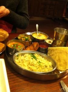 vegan restaurants in leeds - hansa's - vegetarian thali
