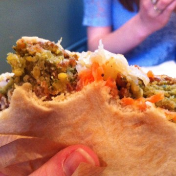 vegan friendly leeds - falafel at humpit