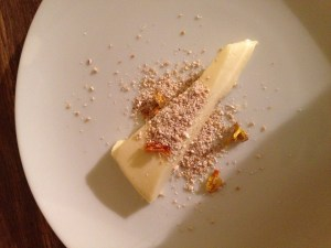 gorse flower panna cotta