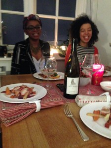 the girls eating a modern twist on a christmas classic with pays d'oc