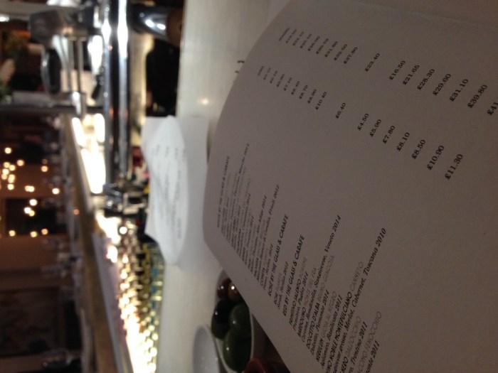 Turk's Head Leeds menu