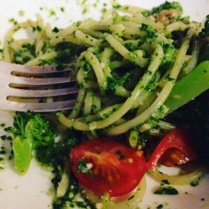 vegan pesto spaghetti recipe