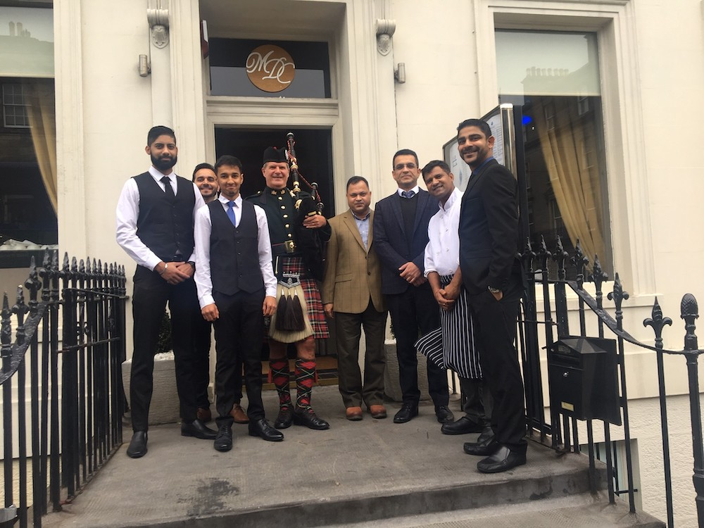 Owners and staff at launch of Mumbai Diners Club