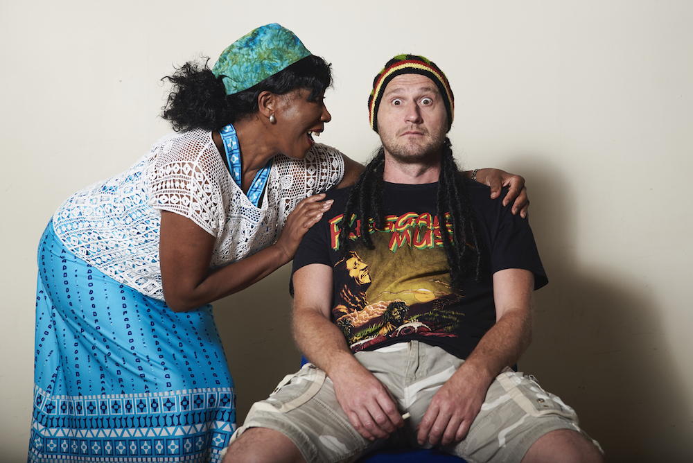 Two actors from the Community Centre a Fringe play