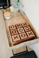 Wooden tic tac toe game, $40 from Home Sense.