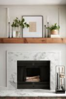 If I were a fireplace this would be me. A splash of modern, sleek finishing, Wood burning and a mantle the perfect size for display:)