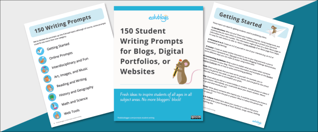 21 Student Writing Prompts For Blogs, Digital Portfolios, Or