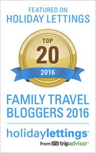 Badge from Top 20 Family Travel Bloggers 2016 - The Educational Tourist