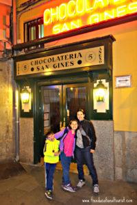 San Gines Chocolateria in Madrid Spain