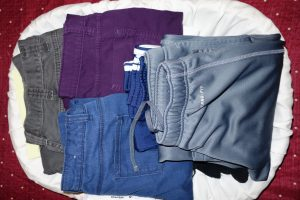 Folded pants, Travel Laundry, www.theeducationaltourist.com